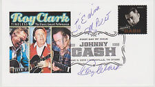 SIGNED ROY CLARK FDC AUTOGRAPHED FIRST DAY COVER HEE HAW