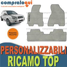 PER HYUNDAI TUCSON (04-09) TAPPETINI per AUTO in VELLUTO BEIGE + RICAMO TOP