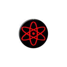 Atomic Symbol Red Black - Metal Lapel Hat Pin Tie Tack Pinback