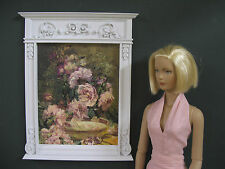 """Fireplace Overmantle ~ For 16"""" Doll ~ 1:4 scale ~ Handcrafted"""