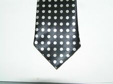 black  skinny tie holday silver dot necktie  T5330  FREE SHIPping dad brother bf