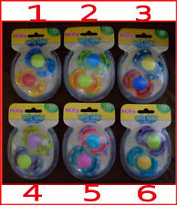NUBY Baby  2 x Soft Edge Oval DUMMIES PACIFIERS 6m+ NEW