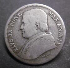 ITALIE - États Pontificaux - 20 BAIOCCHI 1865 R AN. XIX- PIUS IX - Argent