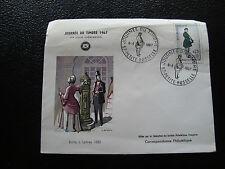 FRANCE - enveloppe 1er jour 8/4/1967 (journee du timbre) (cy55)