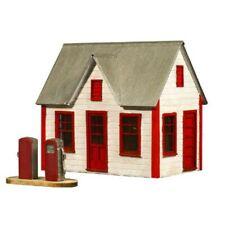 AMERICAN MODEL BUILDERS  797 HO Gas Station w Pumps Railroad Wood Kit FREE SHIP