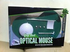New Golf Mouse Optical Mouse with Green Pad Flag Putter Golf Ball Father day gif