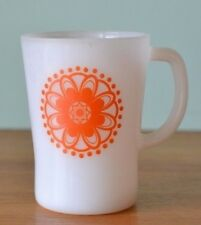 Vintage Pyrex  Crown  mug orange flower  cup funky OT13
