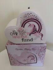 Pretty Unicorn Heart Shaped Money Box Quote My Unicorn Fund  Ideal Gift Boxed