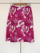 SEAFOLLY women's vibrant pink stretch elastic waist patterned skirt size S