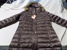Womens Utex Quilted Coat Small Brown