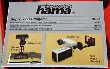 HAMA 3821 Reproduction & Titling Unit Copy Stand Repro-und Titelgerat NOS