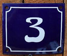 Vintage Style Blue Enamel Porcelain French House Number Door Steel Metal Sign 3