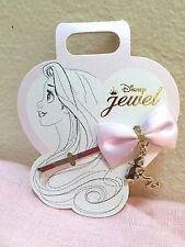 Disney Store Japan Tangled Rapunzel Pink Bow Ribbon Silhouette Hair Pin