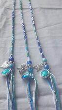 hair wrap,braid, 31/35cm plait,clip in, festival, blues,gift, mermaid, sea horse
