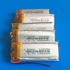 5 pcs 1000mAh 3.7V Li Po Polymer Battery for MP3 MP4 MP5 GPS Speaker PSP 102050