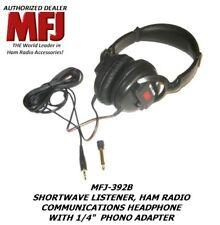 Mfj 392B Ham Radio, Communications, Shortwave Listener Headphone, Volume Control