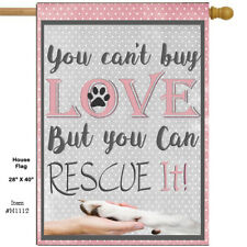 Dog Rescue House Flag Double Sided Soft Flag H1112 28x40