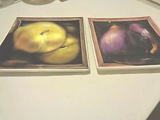 New listing 2 Large Square Serving Plates Certified International