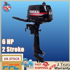 6HP 2Stroke Outboard Motor Tiller Shaft Fishing Boat Engine Water Cooling System