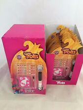 Al por mayor 12 conjuntos de tatuaje Trolls brillo en una caja CDU RRP £ 59.88 fiesta bolsas juguetes