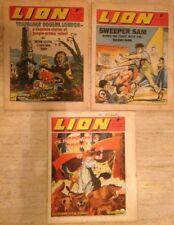LION UK COMIC Bundle. 1970 Job Lot. 3 LION Comics. FREE UK POSTAGE.