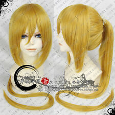 Kagamine Rin Len VOCALOID Anime Cosplay Costume Wig  + Ponytail + Free CAP