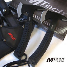 Set of 2) Black - NINJA STEALTH -Tactical AXE's Hatchet w/Sheath -Throwing MTech