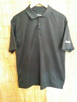 Image Solutions Men's  Short Sleeve Polo Shirt, sz M, Black w/Randalls on sleeve