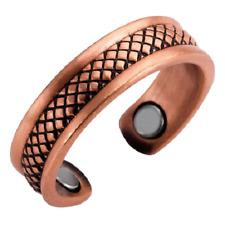 Bague magnétique en cuivre avec aimants - Lézard