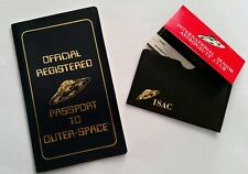 "Vintage Isac ""Official Registered Passport To Outer Space"" 1979 Cosmic Artifacts"