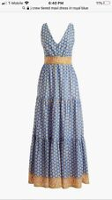 Jcrew tiered maxi dress in royal blue. Size 8
