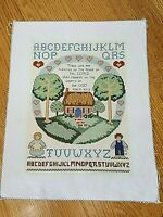 Psalm 19:Quote 23 Completed Cross-stitch Sampler Country Cottage Christian 12x15