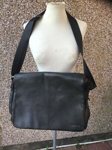 Jasper Conran men's large leather work laptop sch shoulder bag