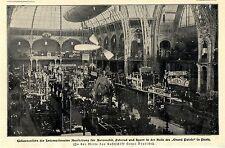 Gesamtansicht der Intern.Pariser Automobil-Fahrrad u. Sport-Ausstellung 1901