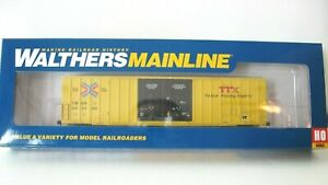 Walthers Ho Mainline 60' Gunderson Hi-Cube Boxcar#910-2977 TTX/TBOX Red TTX NIB