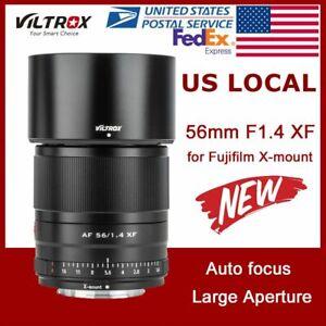 US Viltrox 56mm F1.4 STM Prime APS-C Auto Fucus for Fuji X-mount XT4 XT3 XT30
