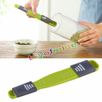 New Double End Eight Stalls Adjustable Scale Measuring Spoons Metering Spoon