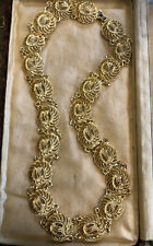 Vintage Gold Plated Cut Out Italian Roman Style Necklace