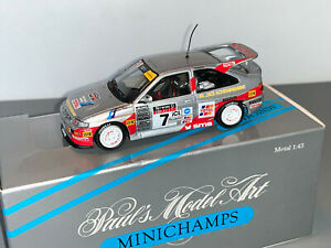 RALLY 1/43 MINICHAMPS CODE 3 FORD ESCORT COSWORTH ARI VATANEN NETWORK Q 1993 WRC