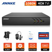 ANNKE 1080P Lite 4CH DVR 5in1 Video Recorder DVR For Security CCTV Camera System