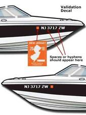 "BOAT REFLECTIVE REGISTRATION NUMBER 4"" X UPTO 24"" LETTERING DECALS VINYL (1 SET)"