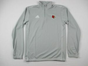 Louisville Cardinals adidas Pullover Men's Gray New without Tags
