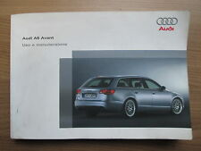 Audi A6 4F Avant uso e manutenzione Nutzung und Wartung Betriebsanleitung Ital.