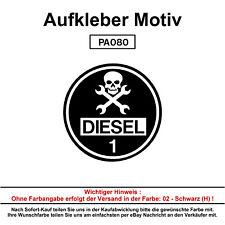 Schwarzer DIESEL - Autoaufkleber Aufkleber Fun Spaß Sticker Lustige Sprüche