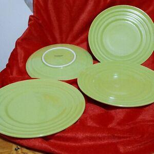 "Set Of 4 Rachael Ray Double Ridge Green 8"" Salad Plates"