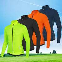 Men's Cycling Long Sleeve Jersey MTB Mountain Bike Riding Sportswear Breathable