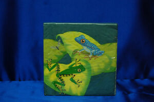 Frogs Rainforest  Napkins Amphibian Napkins Frog Party Supplies # 2 Fun Frogs