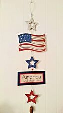 "4th Of July Wall Plaque - 39"" Long - Patriotic, Memorial & Labor Day"
