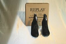 """NEW REPLAY WOMN'S """"PAGEN"""" BLACK ANKLE BOOTS SIZE: US 6EUR 37"""