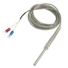 Abgasfühler Rauchgasfühler K-Typ 50 x 5 mm 800 °C  Temperatur Sensor Abgas Q2P1